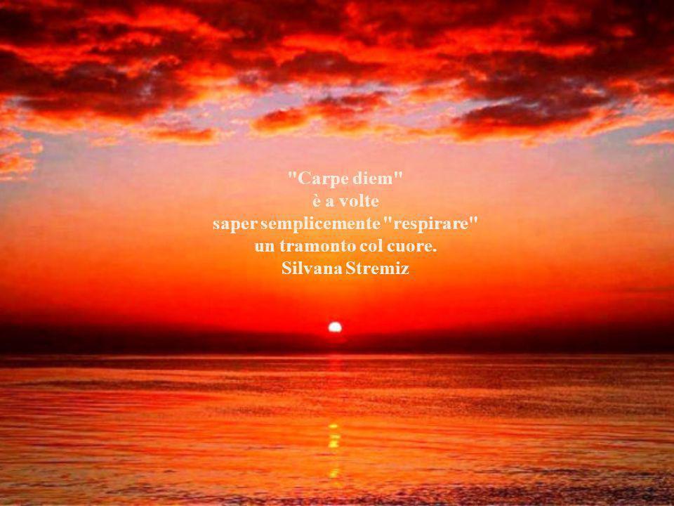 Carpe diem è a volte saper semplicemente respirare un tramonto col cuore. Silvana Stremiz