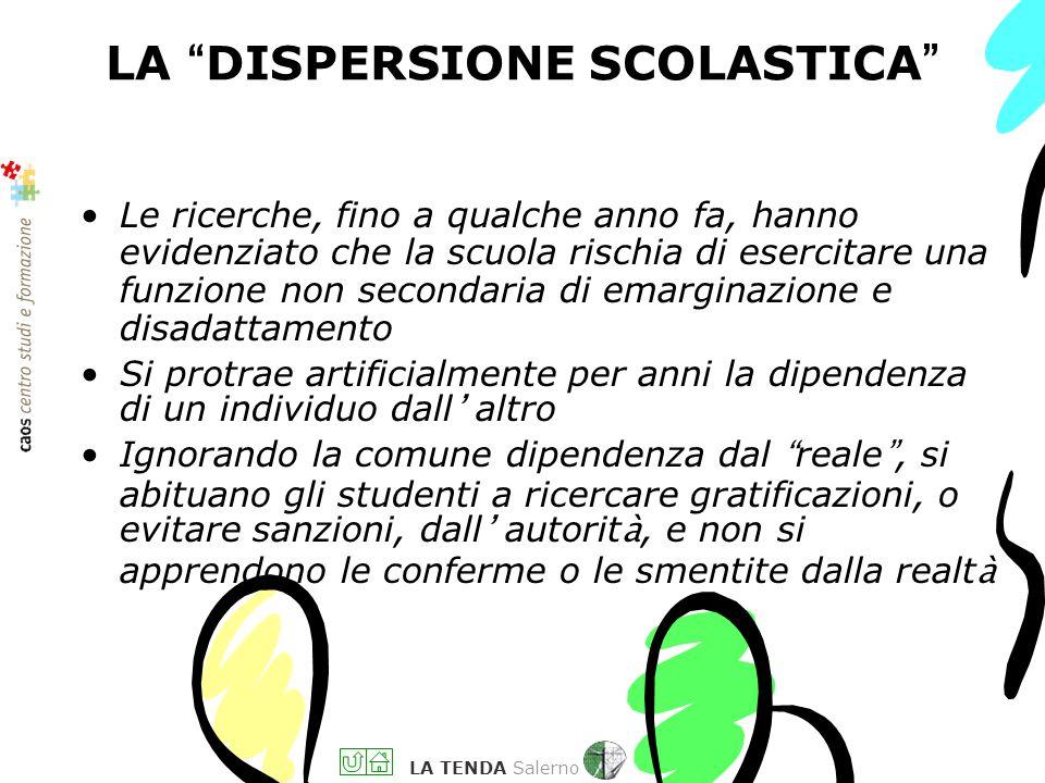 LA TENDA Salerno UN GIOCO NEL GIOCO : DIVIDERE L INTESA TRA FAMIGLIA E SCUOLA È la scuola che non riesce a capire il figlio La madre (e/o il padre) si
