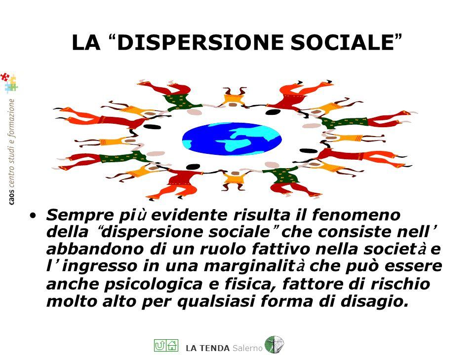 LA TENDA Salerno LADDOVE … Si rifiutano quelle conferme all identit à personale cui ogni persona ha diritto Non si è soggetti nelle relazioni, protago