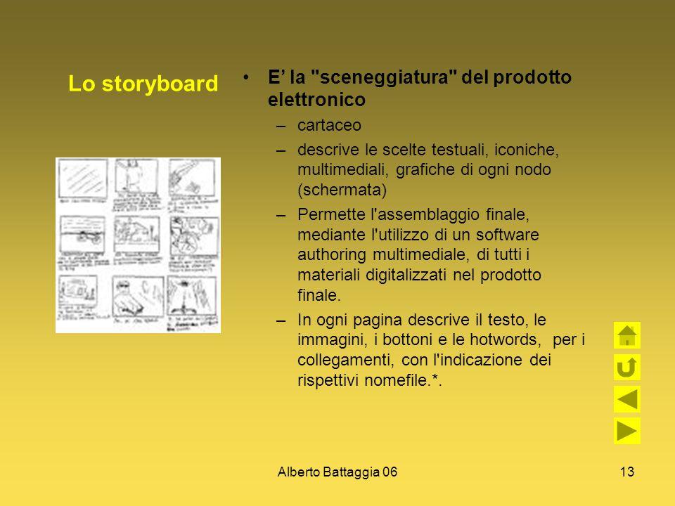Alberto Battaggia 0613 Lo storyboard E la