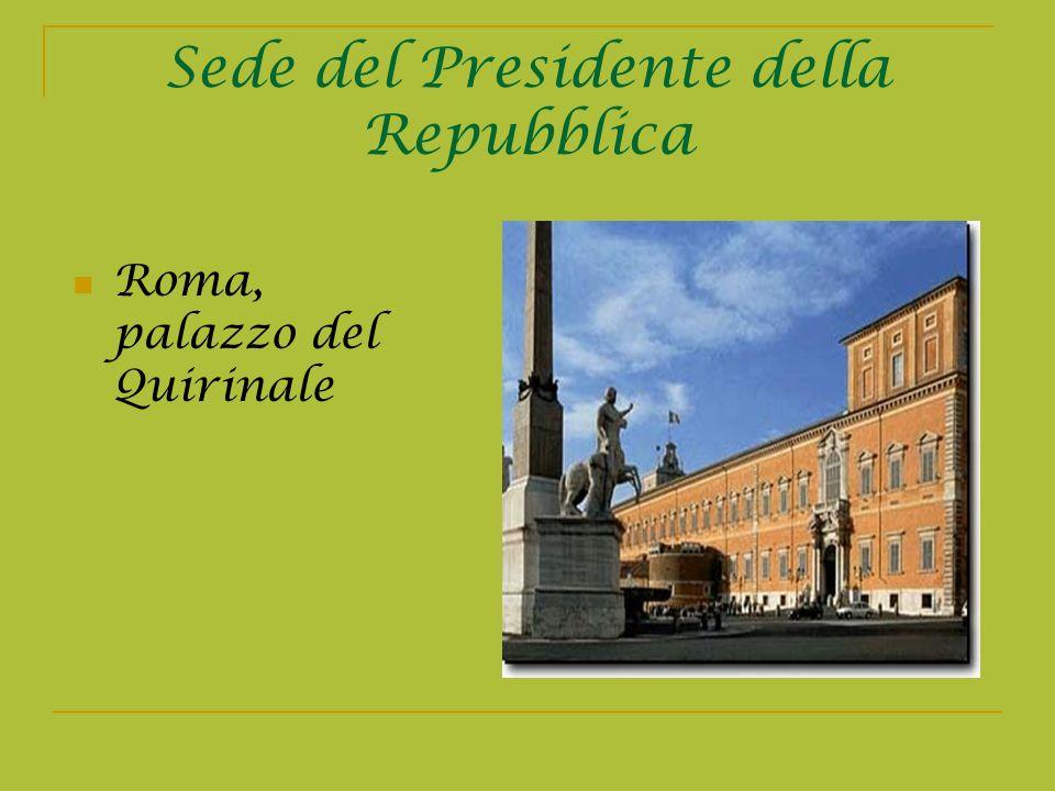 Sede del Presidente della Repubblica Roma, palazzo del Quirinale