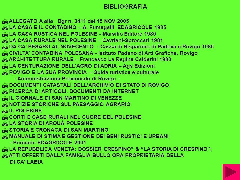 ALLEGATO A alla Dgr n.3411 del 15 NOV 2005 LA CASA E IL CONTADINO – A.