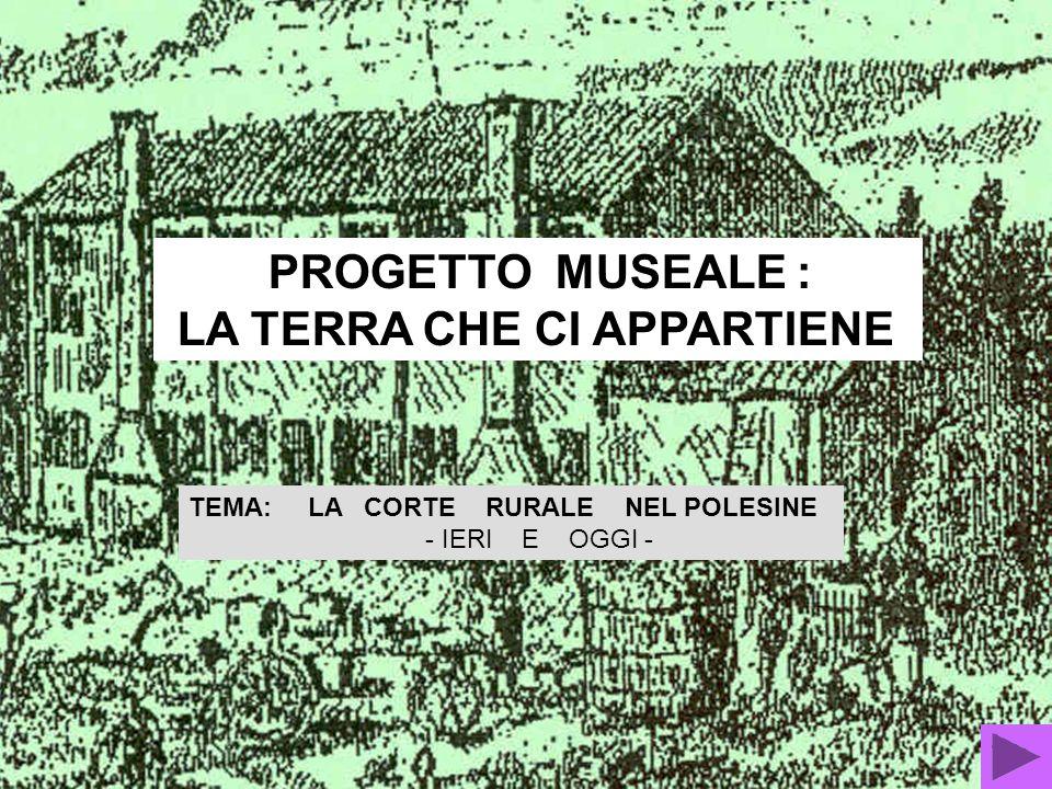 PROGETTO MUSEALE : LA TERRA CHE CI APPARTIENE TEMA: LA CORTE RURALE NEL POLESINE - IERI E OGGI -
