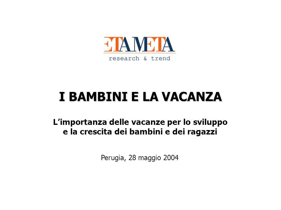 I BAMBINI E LA VACANZA Limportanza delle vacanze per lo sviluppo e la crescita dei bambini e dei ragazzi Perugia, 28 maggio 2004