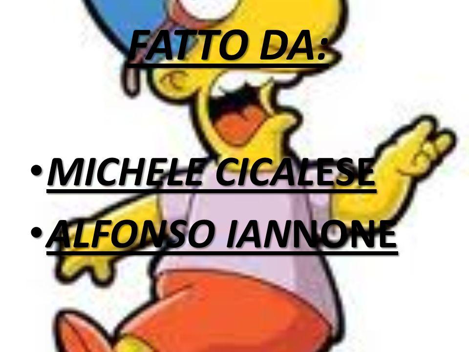 FATTO FATTO DA: MICHELE CICALESE MICHELE CICALESE ALFONSO IANNONE ALFONSO IANNONE