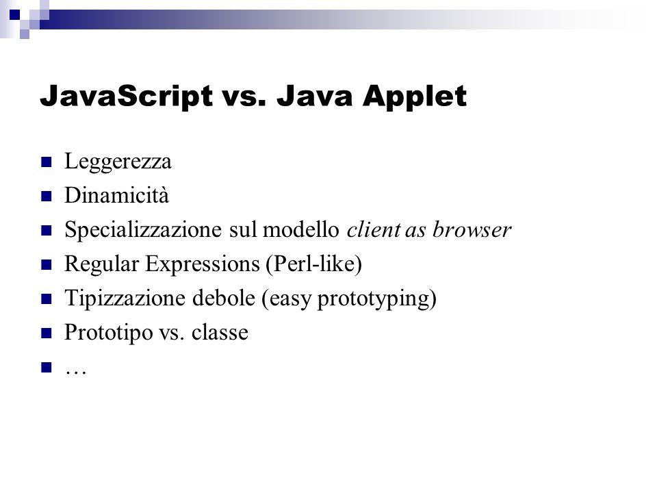 JavaScript vs.