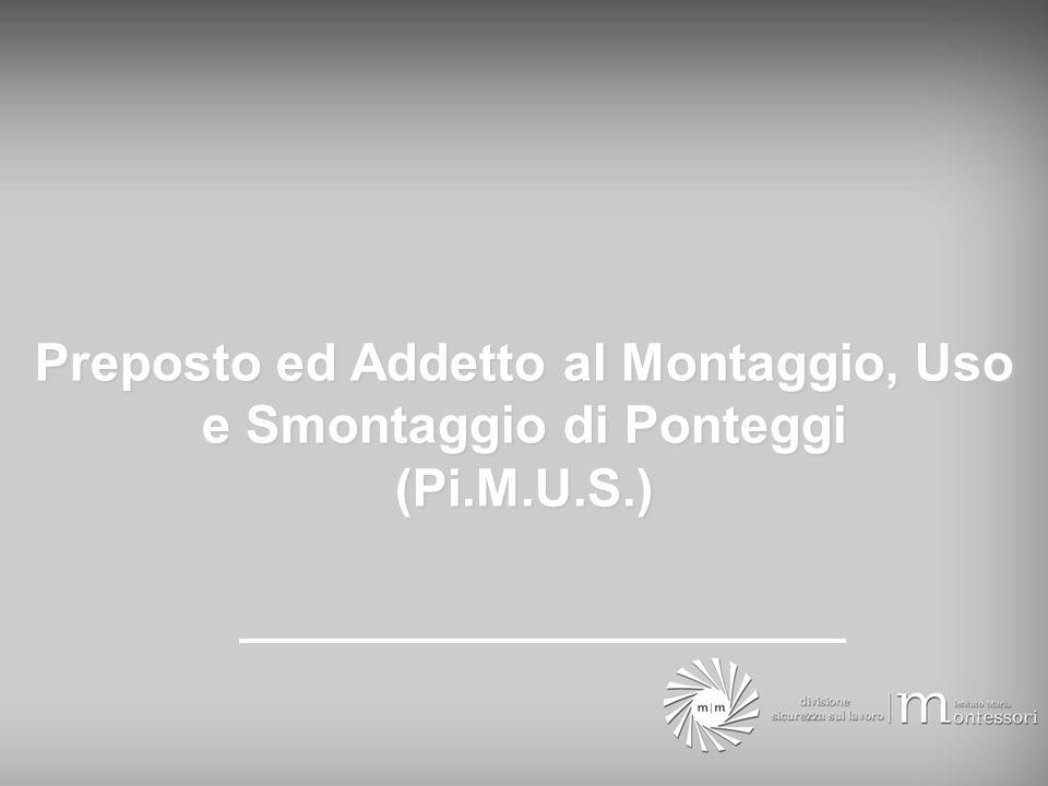Preposto ed Addetto al Montaggio, Uso e Smontaggio di Ponteggi (Pi.M.U.S.)