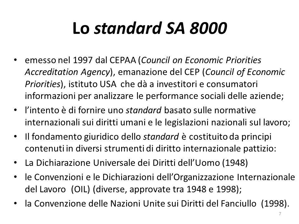 Gli standard ISO:14000 la ISO (International Organisation for Standardization) è una org.