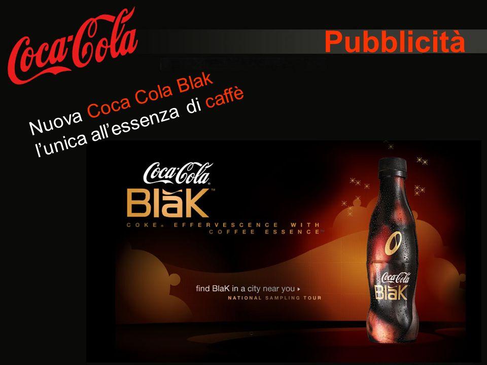 Pubblicità Nuova Coca Cola Blak lunica allessenza di caffè