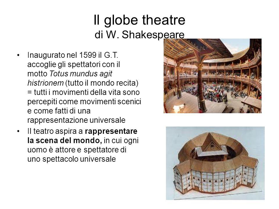 Il globe theatre di W.Shakespeare Inaugurato nel 1599 il G.T.