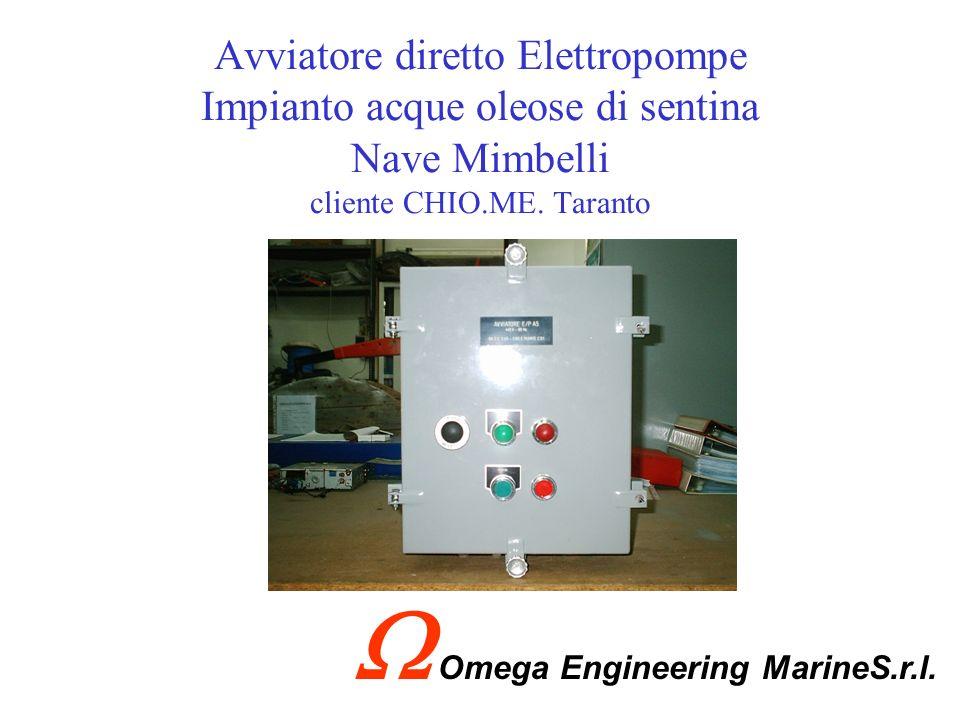 Quadretto gestione allarmi Impianto acque oleose di sentina Nave Mimbelli cliente CHIO.ME. Taranto Omega Engineering MarineS.r.l.