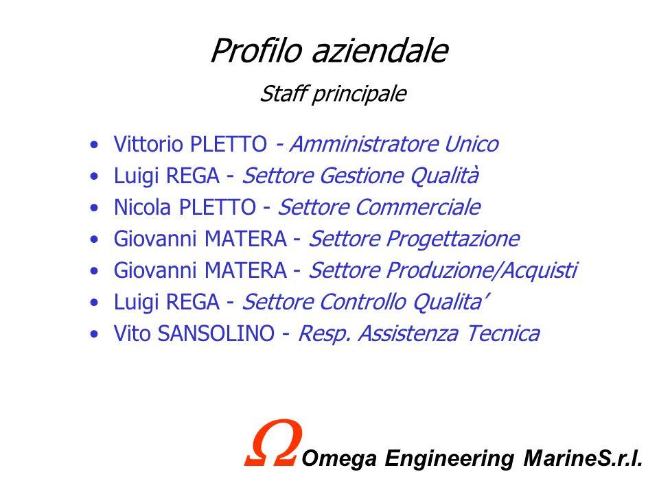 Profilo aziendale Le certificazioni che la Omega Engineering S.r.l possiede sono: Abilitazione lavori D.M. 37 del 22/01/2008 Certificazione R.I.N.A. I