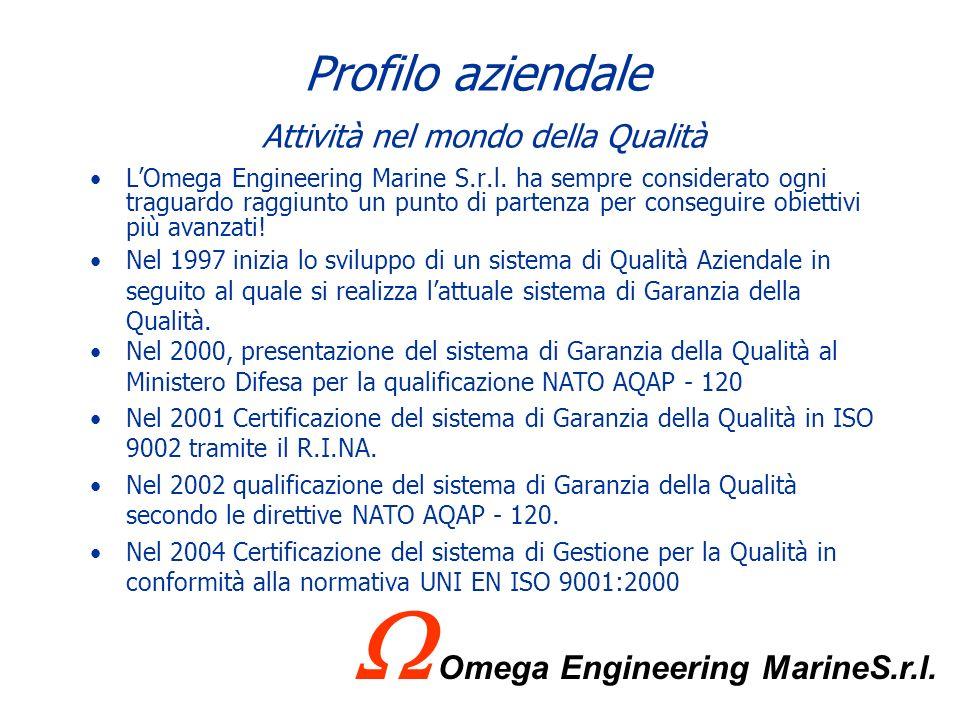 Profilo aziendale Presenza sul territorio Vista la primaria importanza del cliente Marina Militare, Omega Engineering Marine S.r.l. è presente in cias