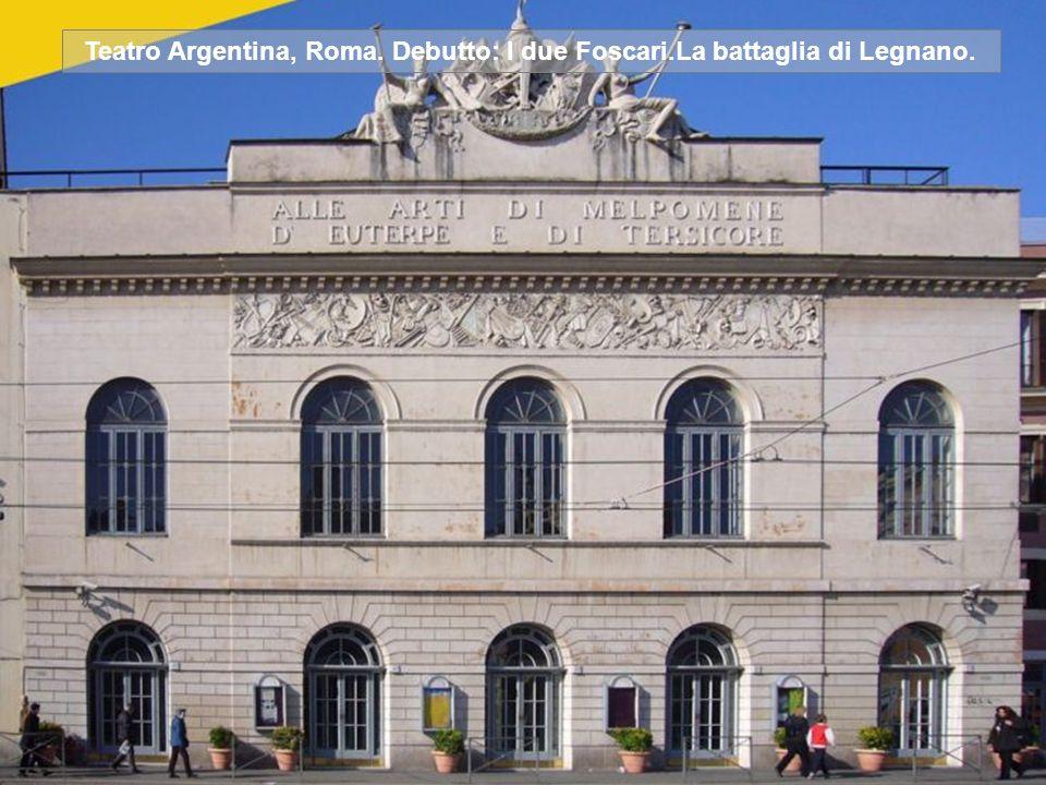 Teatro La Fenice, Venezia. Debutto: Ernani. Attila. Rigoletto. La Traviata. Simon Boccanegra