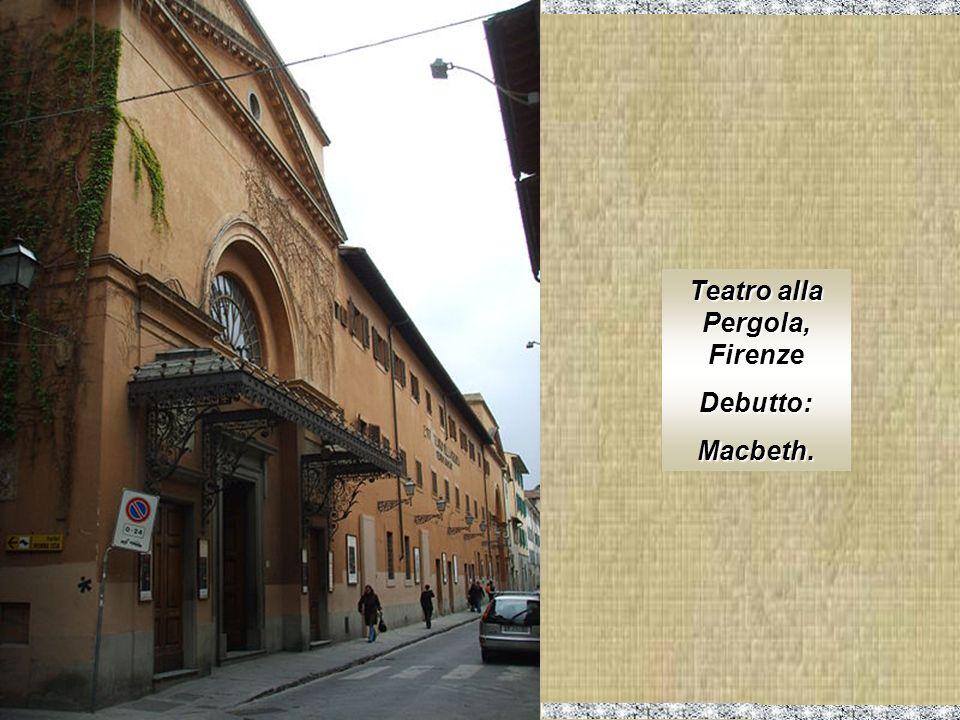 Teatro San Carlo, Napoli. Debutto: Alzira. Luisa Miller