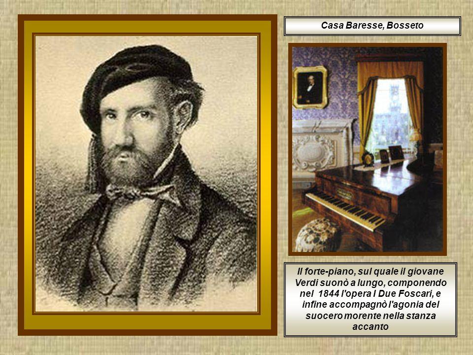 Partì diciottenne per Milano e dopo la mancata ammissione al Conservatorio fu accettato come alunno privato dal Maestro Vincenzo Lavigna, con il sussidio bussetano del Monte di Pietà, anticipato e integrato dalla generosità di Antonio Barezzi.