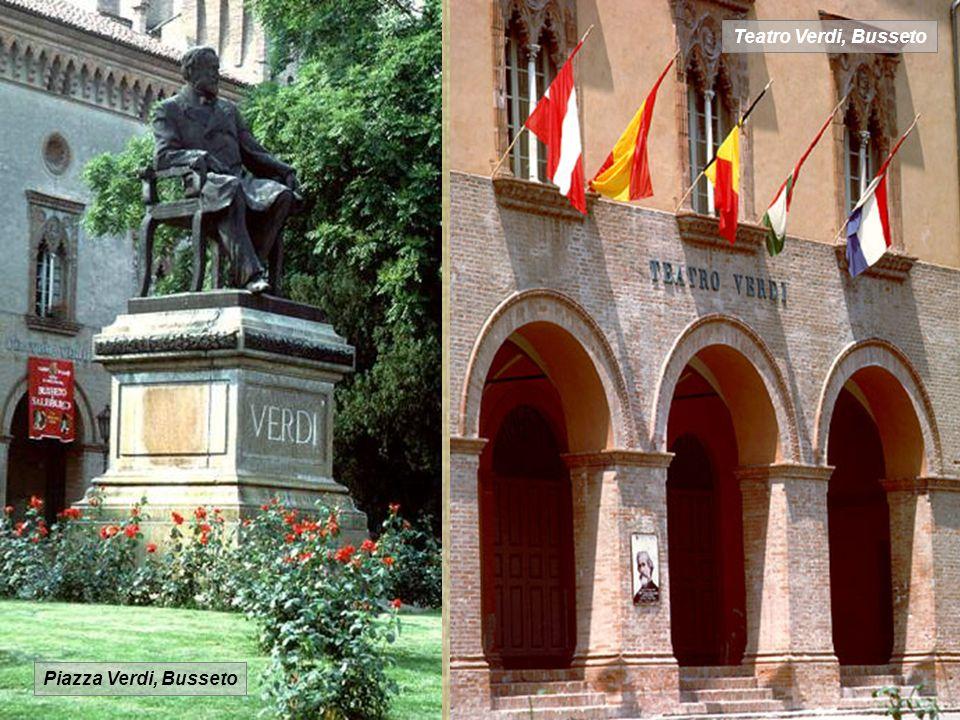 Casa Baresse, Bosseto Il forte-piano, sul quale il giovane Verdi suonò a lungo, componendo nel 1844 l opera I Due Foscari, e infine accompagnò l agonia del suocero morente nella stanza accanto