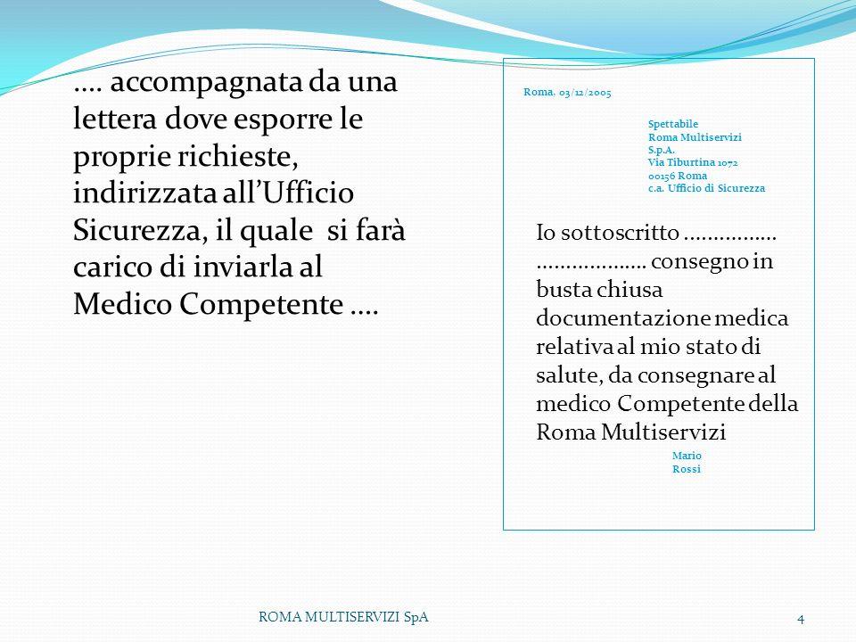 ROMA MULTISERVIZI SpA5 Spettabile Roma Multiservizi S.p.A.