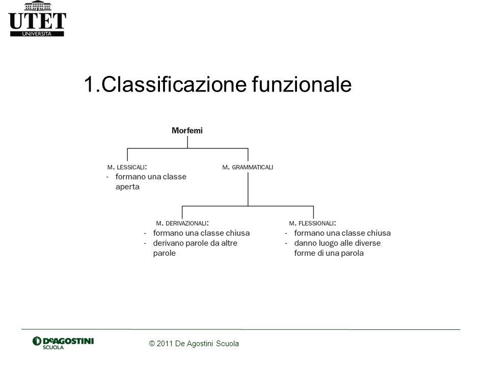 © 2011 De Agostini Scuola 1.Classificazione funzionale
