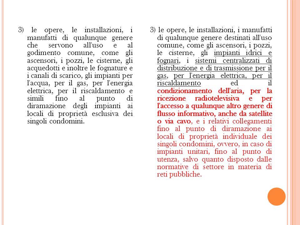 M ODIFICAZIONI DELLE DESTINAZIONI D USO ( ART.1117 TER C.