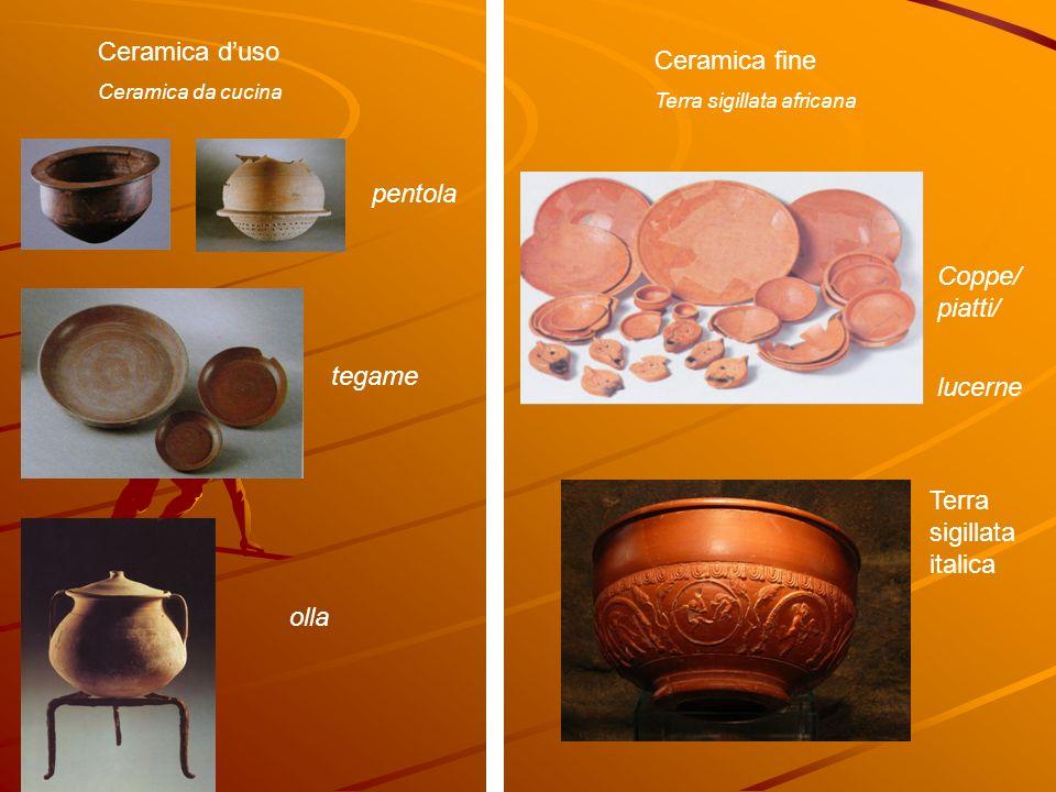 Ceramica duso Ceramica da cucina Ceramica fine Terra sigillata africana pentola tegame olla Coppe/ piatti/ lucerne Terra sigillata italica