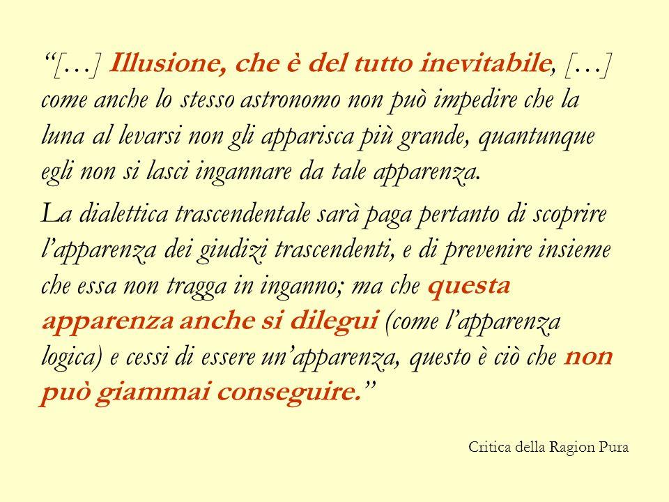 […] Illusione, che è del tutto inevitabile, […] come anche lo stesso astronomo non può impedire che la luna al levarsi non gli apparisca più grande, q