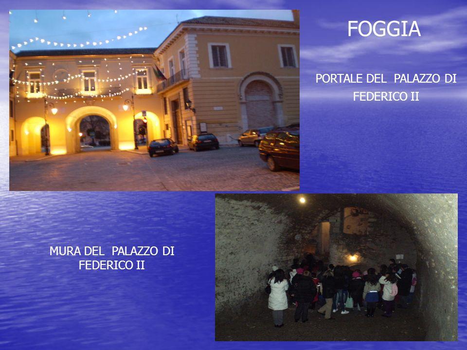 PORTALE DEL PALAZZO DI FEDERICO II MURA DEL PALAZZO DI FEDERICO II FOGGIA