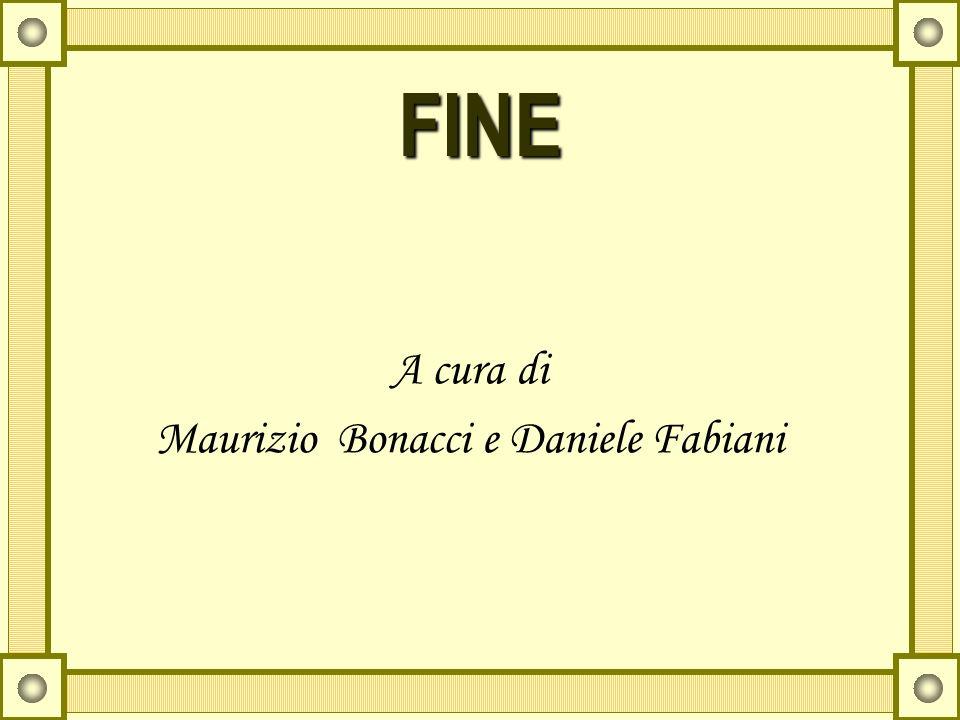 FINE A cura di Maurizio Bonacci e Daniele Fabiani
