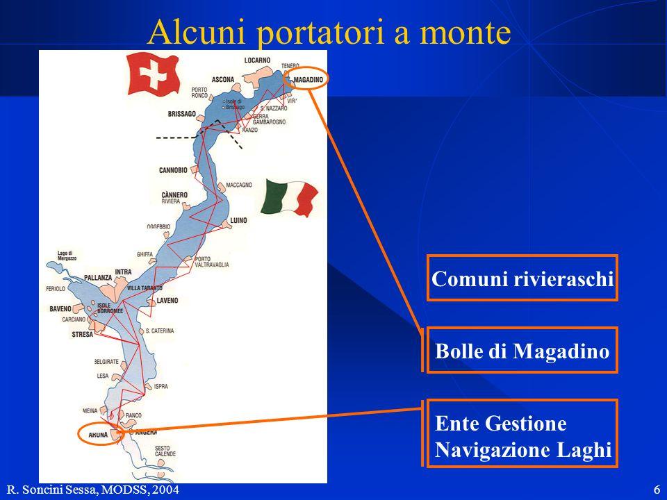 R. Soncini Sessa, MODSS, 2004 6 Alcuni portatori a monte Comuni rivieraschi Bolle di Magadino Ente Gestione Navigazione Laghi