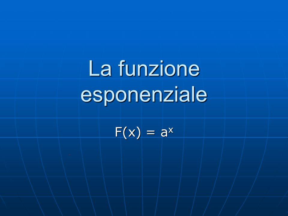 La funzione esponenziale F(x) = a x