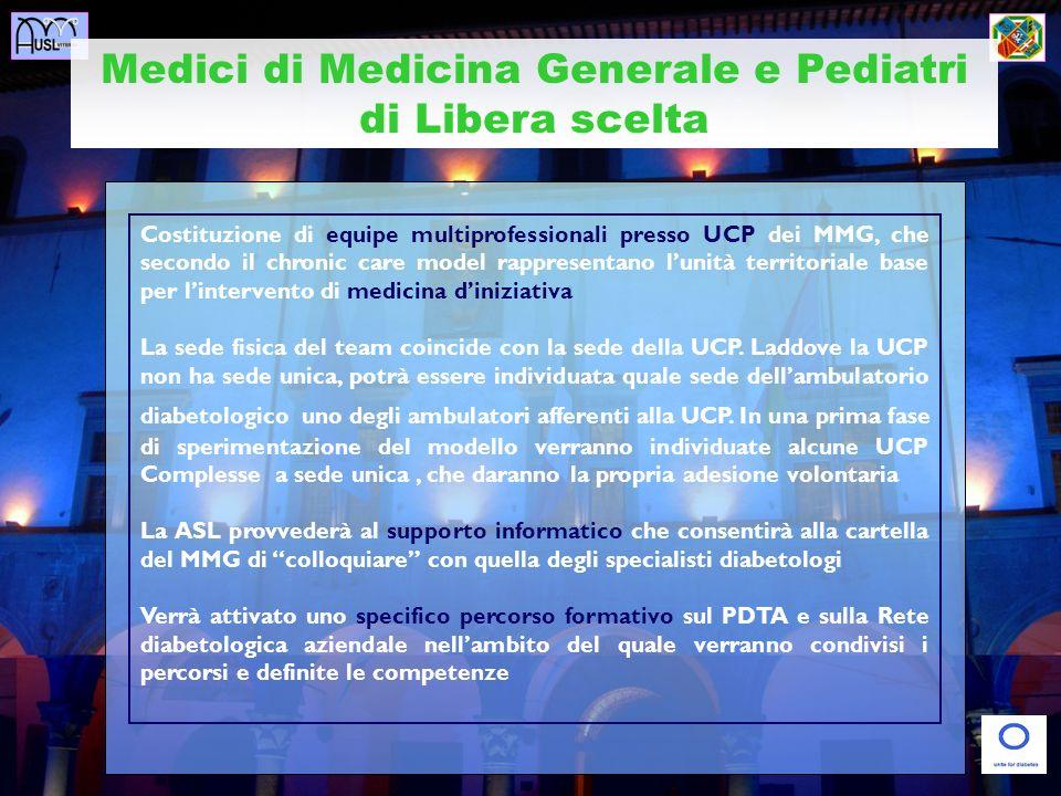 Medici di Medicina Generale e Pediatri di Libera scelta Costituzione di equipe multiprofessionali presso UCP dei MMG, che secondo il chronic care mode