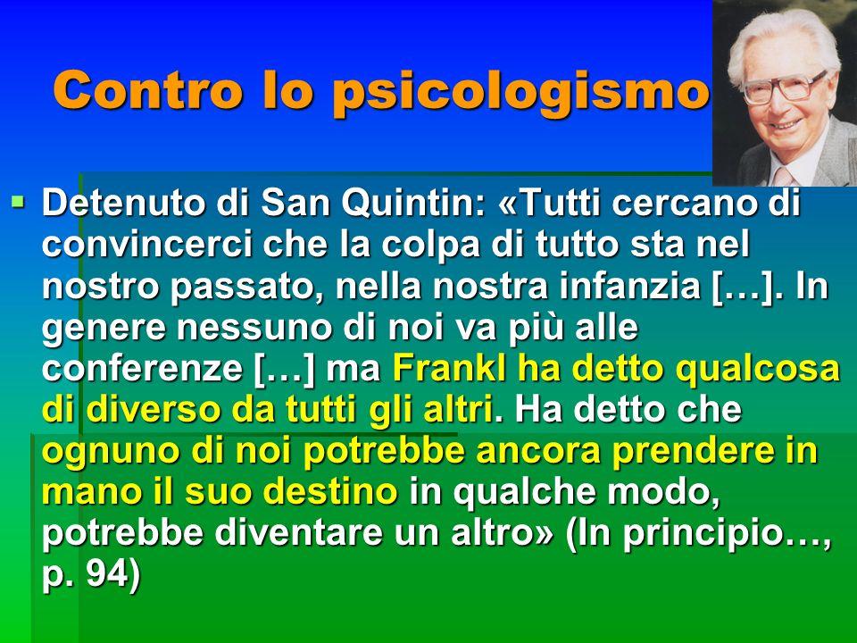 Contro lo psicologismo Detenuto di San Quintin: «Tutti cercano di convincerci che la colpa di tutto sta nel nostro passato, nella nostra infanzia […].