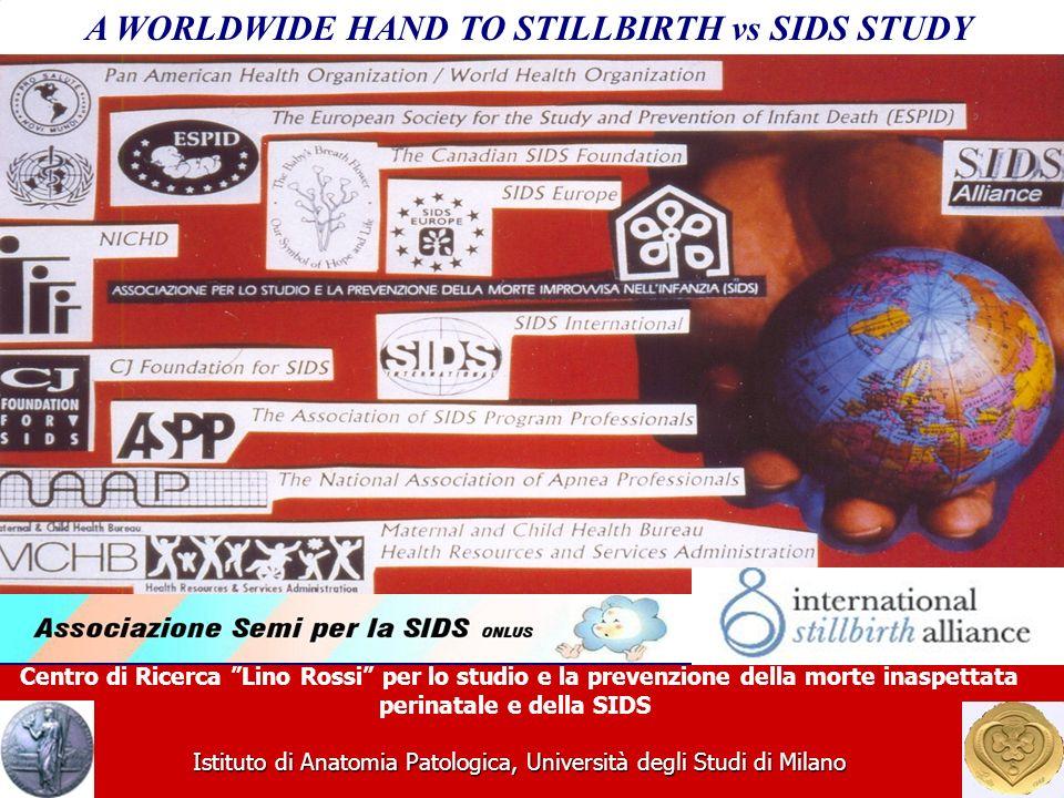 Centro di Ricerca Lino Rossi per lo studio e la prevenzione della morte inaspettata perinatale e della SIDS Istituto di Anatomia Patologica, Università degli Studi di Milano A WORLDWIDE HAND TO STILLBIRTH vs SIDS STUDY