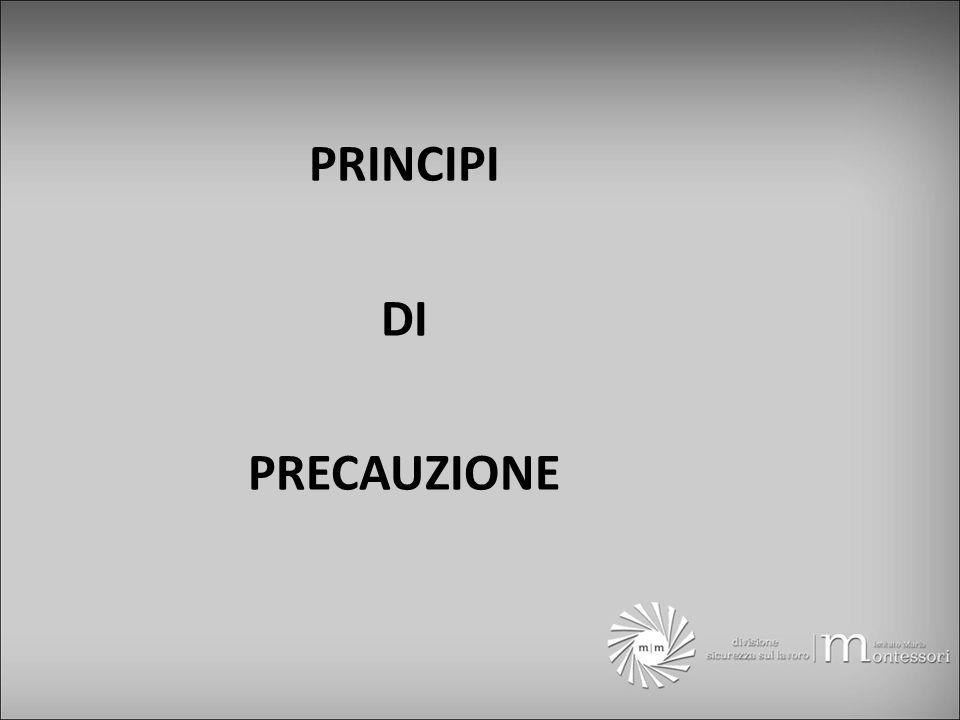PRINCIPI DI PRECAUZIONE