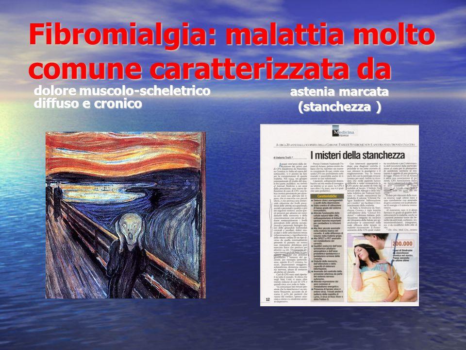 CEFALEA COLON IRRITABILE SINDROME DA STANCHEZZA CRONICA SINDROME FIBROMIALGICA FIBROMIALGIE DISTRETTUALI SINDROMI DISFUNZIONALI DOLORE CRONICO DIFFUSO COLLOCAZIONE E TIPOLOGIA GENERALE DELLE SINDROMI DOLOROSE CRONICHE ( Claw e Simon, 2003)