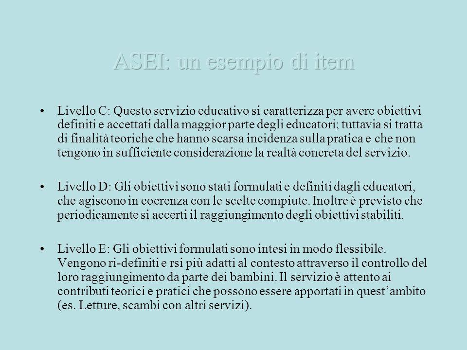 Livello C: Questo servizio educativo si caratterizza per avere obiettivi definiti e accettati dalla maggior parte degli educatori; tuttavia si tratta