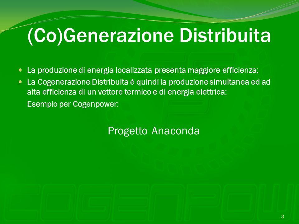 (Co)Generazione Distribuita La produzione di energia localizzata presenta maggiore efficienza; La Cogenerazione Distribuita è quindi la produzione sim