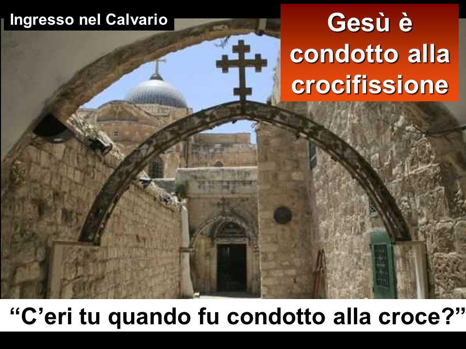 1 2 Getsemani Casa di Anna Casa di Caifa Pretorio di Pilato 5 Via Dolorosa 3 4
