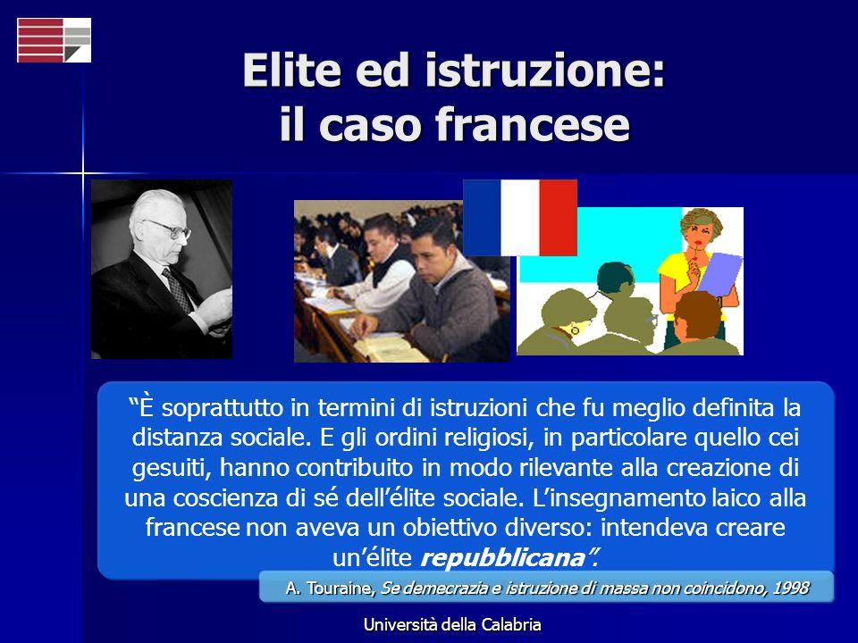 Università della Calabria È soprattutto in termini di istruzioni che fu meglio definita la distanza sociale. E gli ordini religiosi, in particolare qu
