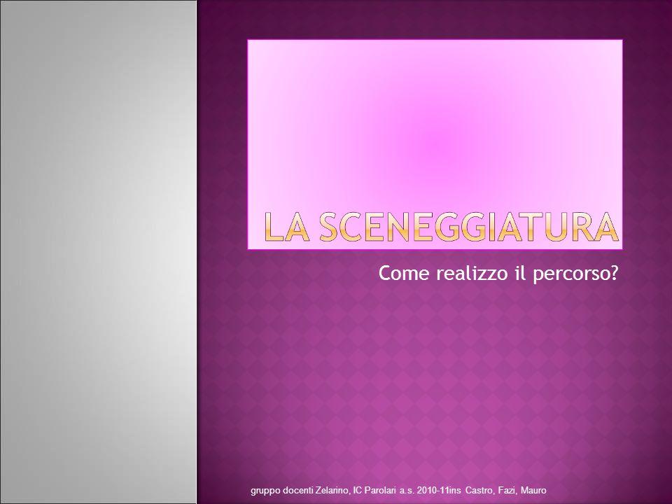 Titolo Argomento Obiettivo formativo Contesto gruppo docenti Zelarino, IC Parolari a.s.
