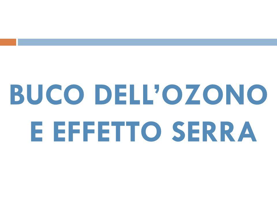 BUCO DELLOZONO E EFFETTO SERRA