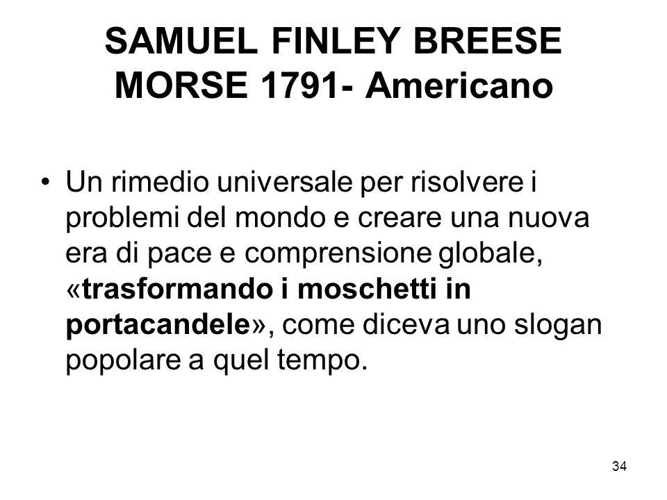 34 SAMUEL FINLEY BREESE MORSE 1791- Americano Un rimedio universale per risolvere i problemi del mondo e creare una nuova era di pace e comprensione g