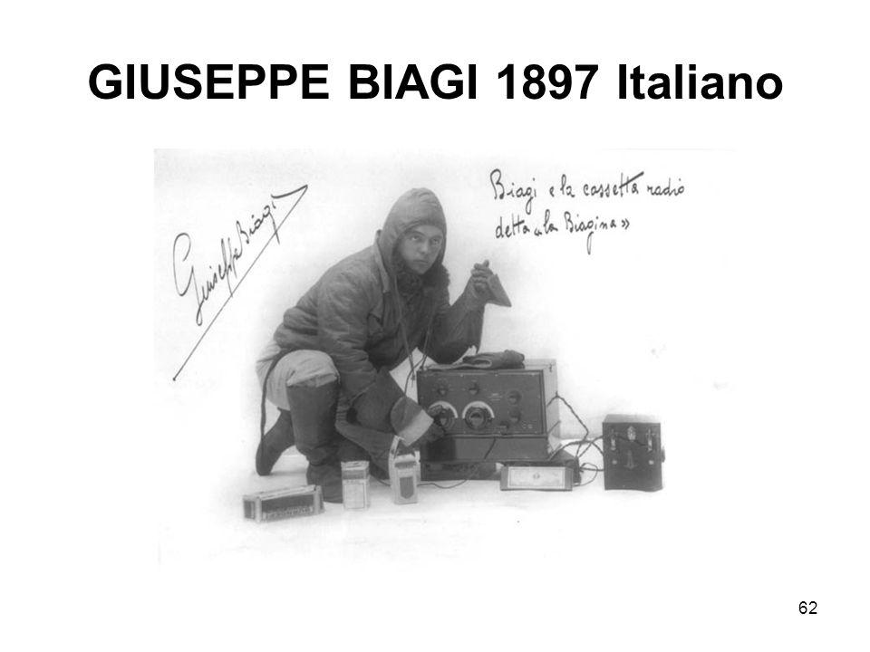 62 GIUSEPPE BIAGI 1897 Italiano