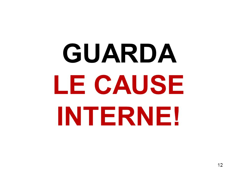 GUARDA LE CAUSE INTERNE! 12