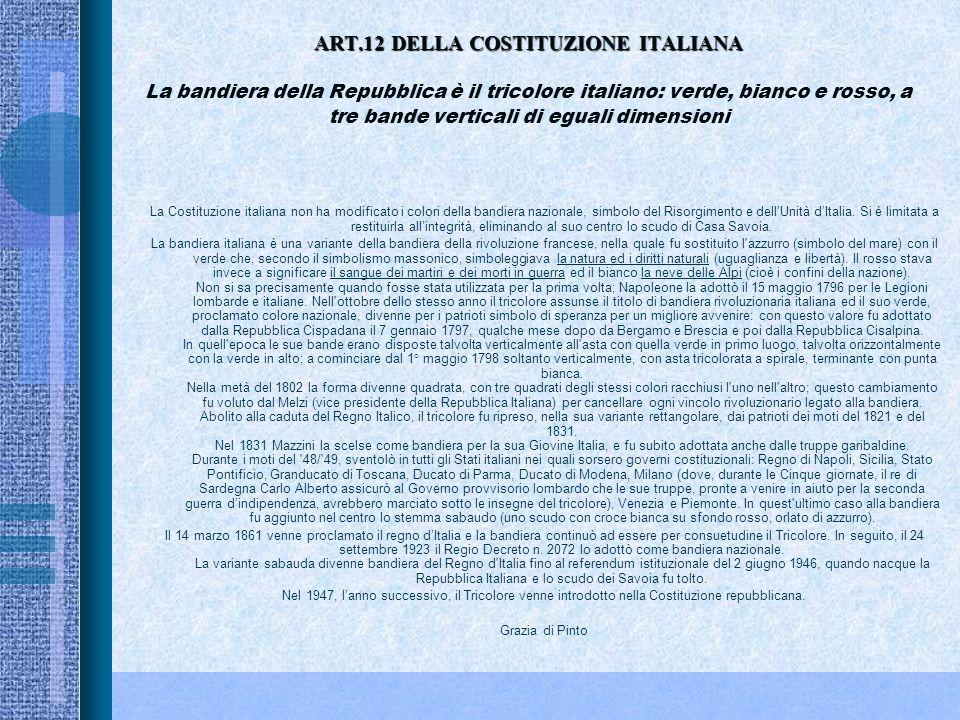 ART.11 DELLA COSTITUZIONE ITALIANA ART.11 DELLA COSTITUZIONE ITALIANALItalia ripudia la guerra come strumento di offesa alla libertà degli altri popol