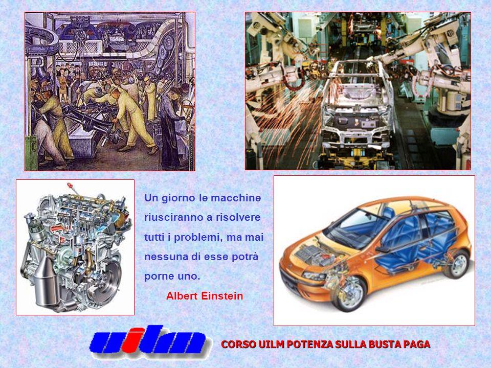 CORSO UILM POTENZA SULLA BUSTA PAGA Un giorno le macchine riusciranno a risolvere tutti i problemi, ma mai nessuna di esse potrà porne uno. Albert Ein
