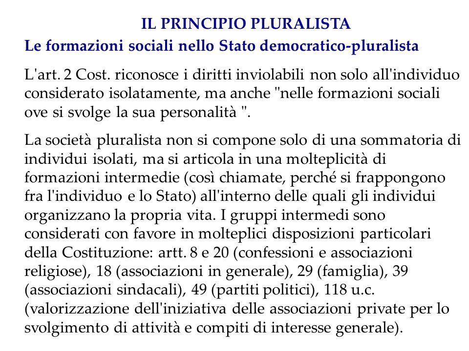 La persona nell ispirazione democraticoliberale della Costituzione italiana L art.
