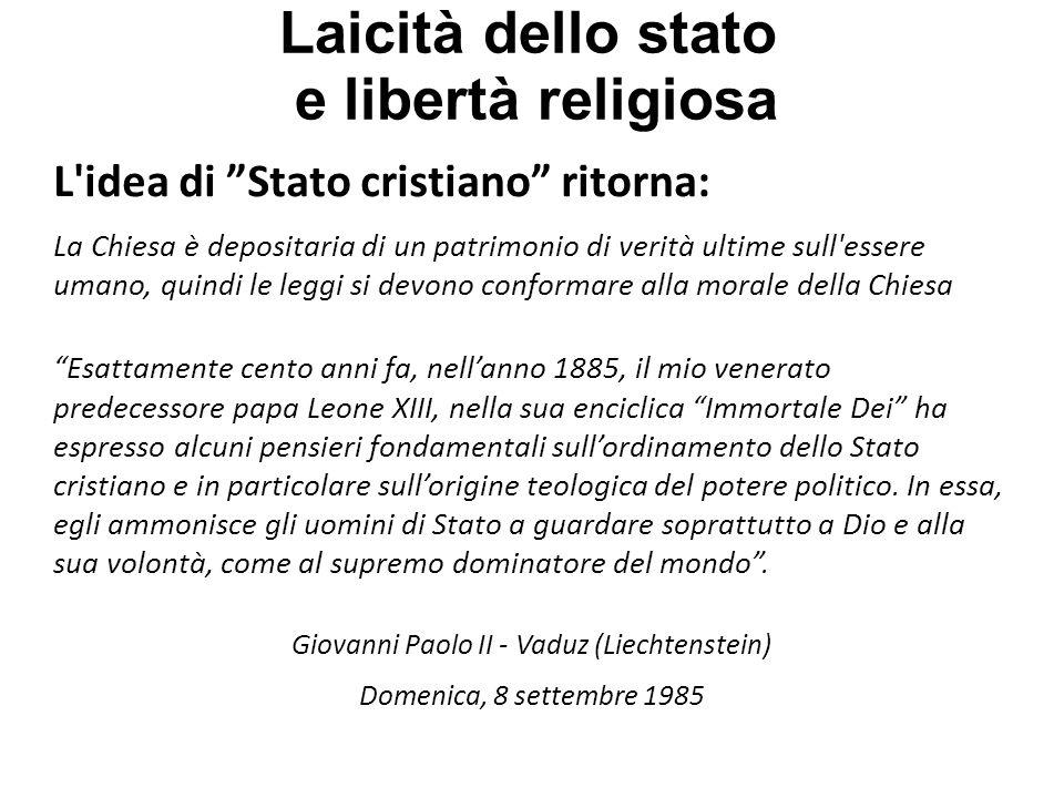 Laicità dello stato e libertà religiosa - Lotta delle investiture (1057-1122): Finisce con la desacralizzazione del potere politico.