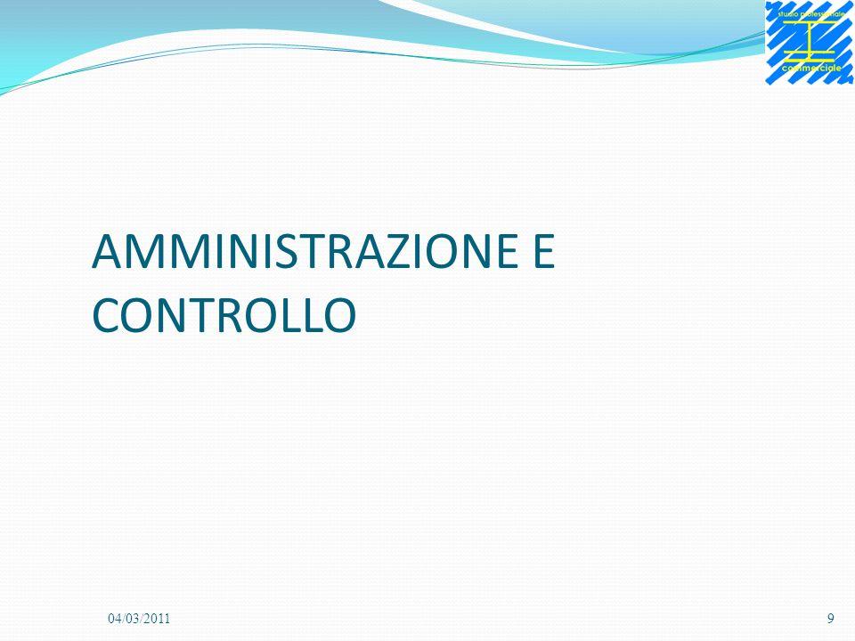 AMMINISTRAZIONE E CONTROLLO 04/03/20119