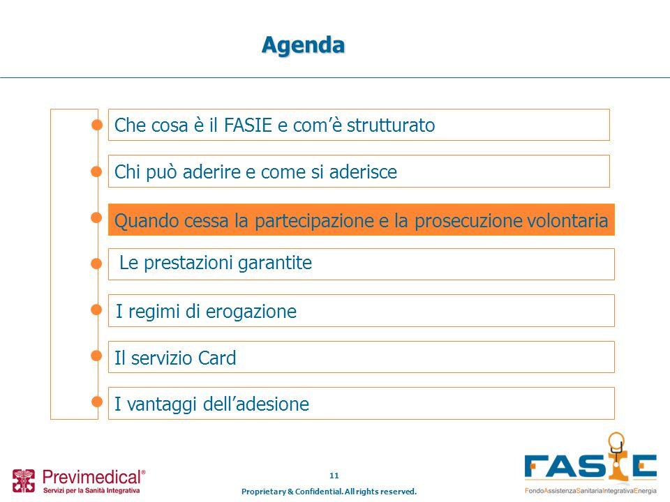 Proprietary & Confidential. All rights reserved. 11 Che cosa è il FASIE e comè strutturato Agenda Chi può aderire e come si aderisce Il servizio Card